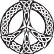 Celtic Design - Peace symbol - Stok Vektör