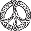 Celtic Design - Peace symbol - 图库矢量图片