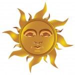 Mayan Incan sun - Maya, vector — Stock Vector