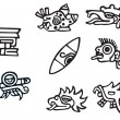 Royalty-Free Stock Vector Image: Mayan symbols, great artwork for tattoos