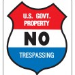 Royalty-Free Stock Vector Image: NO TREPASSING - US GOVERNMENT PROPERTY