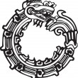 Aztec Maya Dragon - Great for tatto art - 图库矢量图片