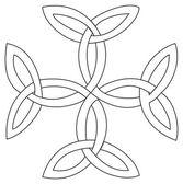 Triquetras cross symbol — Stock Vector