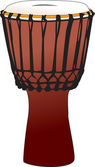 Djembe - tamtam percussion drum — Vetorial Stock