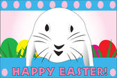 Cute Easter rabbit, great for a quick card — Stock Vector