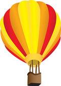 Stripy hot air balloon — Stock Vector