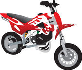 Moto de juguete — Vector de stock