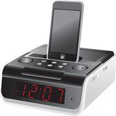 Docking station alarm clock — Stock Vector