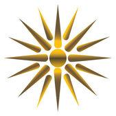 Zlaté slunce, plně vektorových — Stock vektor
