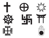 Different religions symbols — Stock Vector