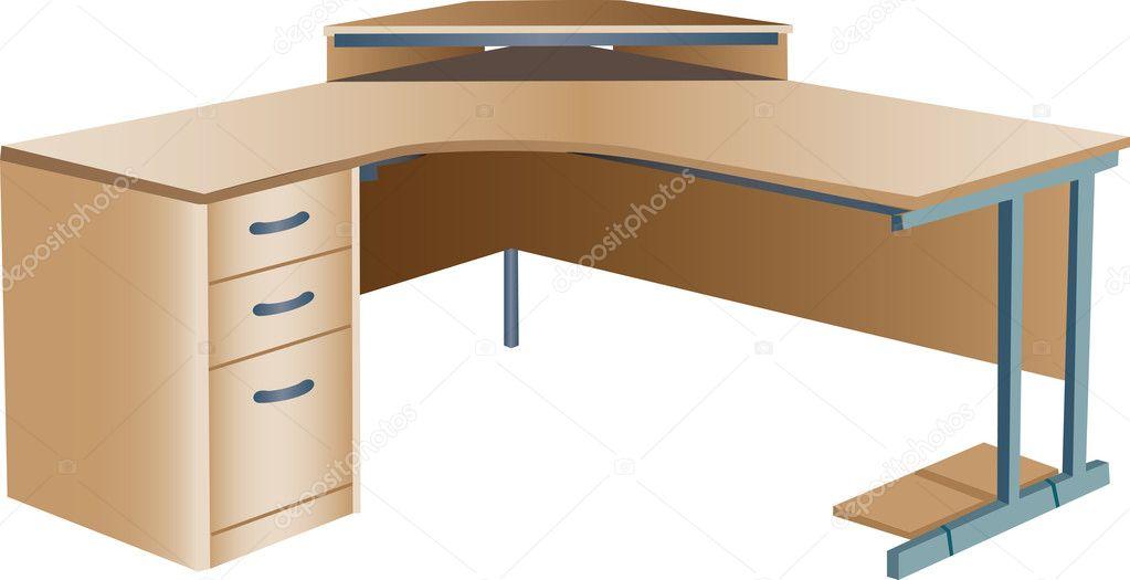 Angled corner office desk — Stock Vector © Morphart #4763117