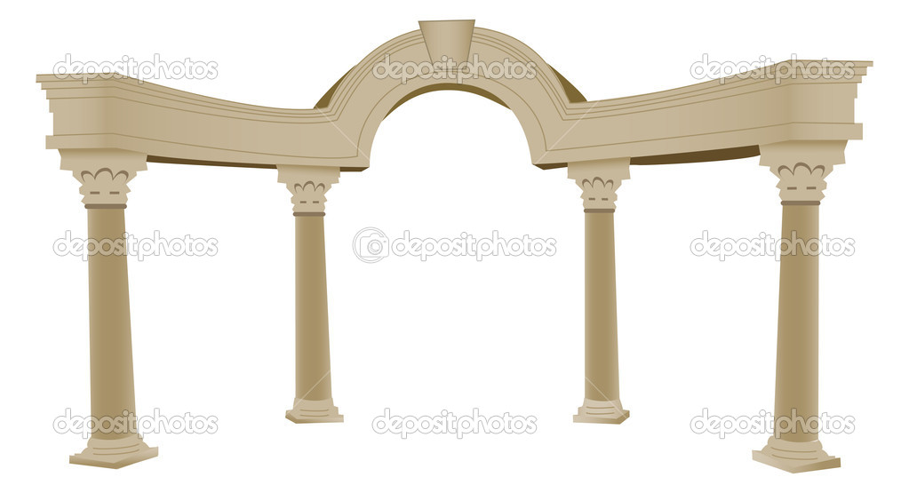 3d Greek Arch And Column Stock Vector Morphart 4764707