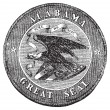 Royalty-Free Stock Imagen vectorial: The Great Seal of the State of Alabama vintage engraving.