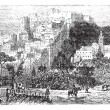 Algiers city vintage engraving. Capital of Algeria. — Imagen vectorial