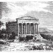 Temple of Concord, Templum Concordiae, in Agrigente, Rome, Italy - Stok Vektr