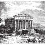 Temple of Concord, Templum Concordiae, in Agrigente, Rome, Italy — Stock Vector