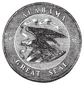 The Great Seal of the State of Alabama vintage engraving. — Stock Vector
