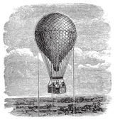 Old aerostat or hot air balloon vintage illustration. — Wektor stockowy