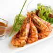 Grilled shrimp — Stock Photo #4691330
