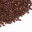 Coffe beans on the white background — Stock Photo