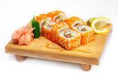 Ikura sushi z tuńczyka, wewnątrz — Zdjęcie stockowe