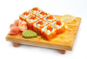 Philadelphia maki with caviare — Stock Photo