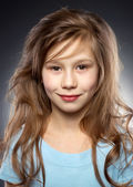 Pretty smiling girl portraite — Stock Photo