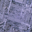 Stock Photo: Detail of silicon processor die