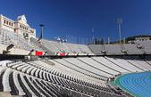 Tribune seats in Olympic stadium — Stock Photo