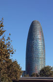 Torre Agbar famous tower of Barcelona — Stock Photo