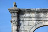Detalj av en gammal romersk bro — Stockfoto