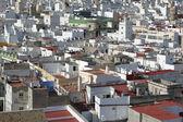 аэрофотоснимок крыш в европейский город — Стоковое фото