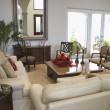 Foto Stock: Interiors of living room