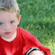 Little boy in red  — Stock Photo