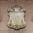 Lima Arcebishop Palace plaque - Stock Photo