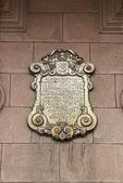 リマの arcebishop 宮殿のプラーク — ストック写真