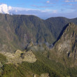 Machu Picchu from sungate Inti Punku - Stock Photo