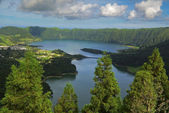 Vista do Rei viewpoint at Sete Cidades, San Miguel, Azores — Foto Stock