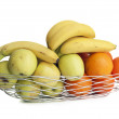 Fruit metal basket - Stock Photo