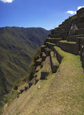 Machu Picchu terraces detail — Stock Photo