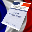 French voter card — Stock Photo