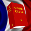 French Civil Code — Stock Photo