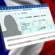 French nationality (female) 1 — Stock Photo