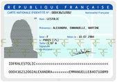 French national identity card (female) — Stock Photo