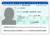 French national identity card (male) — Stock Photo