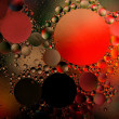 Stock Photo: Colored oil droplets