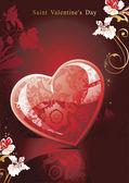St alla hjärtans-kort — Stockvektor