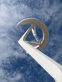 Details of Calatrava telecommunications tower - Barcelona — Stock Photo