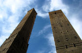 The Two Towers of Bologna, Italy — Stock Photo