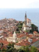 Piran panoramic view, Slovenia — Stock Photo